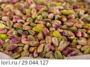 Купить «Illustration of bag with pistachios», фото № 29044127, снято 4 сентября 2017 г. (c) Яков Филимонов / Фотобанк Лори
