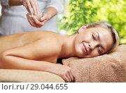 Купить «woman having salt massage in spa», фото № 29044655, снято 18 декабря 2014 г. (c) Syda Productions / Фотобанк Лори
