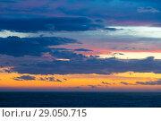 Купить «Peaceful sky with cloud breaks above ocean», фото № 29050715, снято 9 февраля 2016 г. (c) Яков Филимонов / Фотобанк Лори