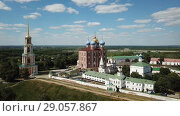 Купить «Image of Kremlin and Cathedral in Ryazan city at sunny day, Russia», видеоролик № 29057867, снято 28 июня 2018 г. (c) Яков Филимонов / Фотобанк Лори