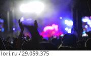 Купить «A slow motion of a cheering crowd on a concert show», видеоролик № 29059375, снято 19 ноября 2018 г. (c) Данил Руденко / Фотобанк Лори
