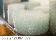 Купить «dish for table appointment in the tableware store», фото № 29061099, снято 29 ноября 2017 г. (c) Яков Филимонов / Фотобанк Лори