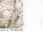 Купить «500 Ukrainian hryvnia background with space for text», фото № 29062435, снято 14 сентября 2016 г. (c) Tetiana Chugunova / Фотобанк Лори