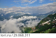 Caucasian mountains in early spring. view from above. Стоковое фото, фотограф Володина Ольга / Фотобанк Лори