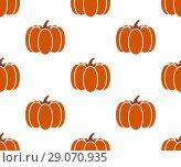 Купить «Seamless pumpkin background isolated on white», иллюстрация № 29070935 (c) Мастепанов Павел / Фотобанк Лори