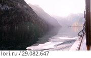 Купить «Konigsee boat view», видеоролик № 29082647, снято 12 сентября 2018 г. (c) Сергей Петерман / Фотобанк Лори