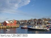 Купить «USA, New England, Cape Ann, Massachusetts, Rockport, Rockport Harbor and Motif Number One, winter, sunset.», фото № 29087503, снято 6 января 2018 г. (c) age Fotostock / Фотобанк Лори