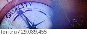 Купить «Composite image of compass pointing to quality», фото № 29089455, снято 20 января 2019 г. (c) Wavebreak Media / Фотобанк Лори