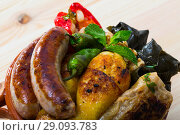 Купить «Kapama a dish of bulgarian cuisine with assortiment meat, grape rolls», фото № 29093783, снято 20 сентября 2018 г. (c) Яков Филимонов / Фотобанк Лори