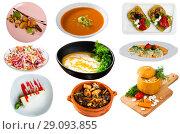 Купить «Set of vegetarian dishes», фото № 29093855, снято 21 сентября 2018 г. (c) Яков Филимонов / Фотобанк Лори