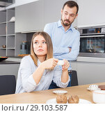 Купить «Couple finding out relationship», фото № 29103587, снято 24 мая 2018 г. (c) Яков Филимонов / Фотобанк Лори