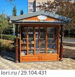 Купить «Уличная библиотека Липецк», фото № 29104431, снято 19 сентября 2018 г. (c) Евгений Будюкин / Фотобанк Лори