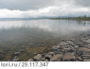Купить «Плато Путорана, озеро Кета», фото № 29117347, снято 11 августа 2015 г. (c) Сергей Дрозд / Фотобанк Лори
