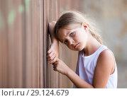 girl sad portrait. Стоковое фото, фотограф Яков Филимонов / Фотобанк Лори