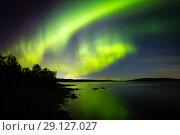 Купить «Северное сияние (Aurora Borealis)», фото № 29127027, снято 10 сентября 2018 г. (c) Андрей Пожарский / Фотобанк Лори