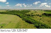Купить «survey from quadrocopter in rural areas in Central Russia», видеоролик № 29129547, снято 20 августа 2019 г. (c) Володина Ольга / Фотобанк Лори