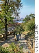 Купить «Prague, Czech Republic, September 19, 2018. Beautiful view from the city park to the city», фото № 29129987, снято 19 сентября 2018 г. (c) Яна Королёва / Фотобанк Лори