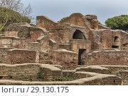 Ruins of ancient Roman Ostia Antica, Lazio, Italy. Стоковое фото, фотограф Ivan Vdovin / age Fotostock / Фотобанк Лори