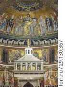 Купить «Mosaics (12th century), Church of Our Lady in Trastevere interior, Basilica of Santa Maria in Trastevere, Rome, Lazio, Italy.», фото № 29130367, снято 10 марта 2018 г. (c) age Fotostock / Фотобанк Лори