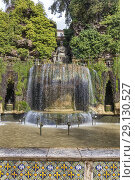 Fontana dell'Ovato, Oval Fountain, Villa d'Este, Tivoli, Lazio, Italy. Стоковое фото, фотограф Ivan Vdovin / age Fotostock / Фотобанк Лори