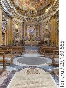 Купить «Church of the Gesu interior, Rome, Lazio, Italy.», фото № 29130555, снято 8 марта 2018 г. (c) age Fotostock / Фотобанк Лори