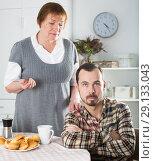 Купить «Mother and son arguing», фото № 29133043, снято 26 сентября 2018 г. (c) Яков Филимонов / Фотобанк Лори