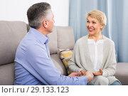 Купить «Man and woman love friendly talk», фото № 29133123, снято 25 марта 2019 г. (c) Яков Филимонов / Фотобанк Лори