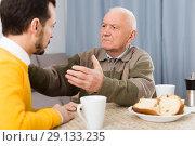 Купить «Father and son arguing», фото № 29133235, снято 18 января 2019 г. (c) Яков Филимонов / Фотобанк Лори