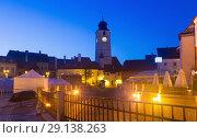 Купить «Image of Tower Sfatului is architecture landmark of Sibiu», фото № 29138263, снято 17 сентября 2017 г. (c) Яков Филимонов / Фотобанк Лори