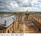 Купить «The view from the cupola of Sheldonian Theatre across the central Oxford. Oxford University. England», фото № 29141567, снято 15 мая 2009 г. (c) Serg Zastavkin / Фотобанк Лори