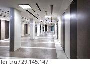 Купить «Длинный подземный переход из гранита», фото № 29145147, снято 25 сентября 2015 г. (c) Евгений Ткачёв / Фотобанк Лори