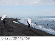 Купить «Халактырский пляж. Серфинг. Тихий океан. Камчатка.», эксклюзивное фото № 29148159, снято 16 сентября 2018 г. (c) syngach / Фотобанк Лори