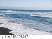 Купить «Халактырский пляж. Черный вулканический песок пляжа. Тихий океан. Камчатка.», эксклюзивное фото № 29148527, снято 16 сентября 2018 г. (c) syngach / Фотобанк Лори