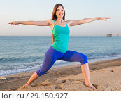 Купить «Female 20-25 years old is doing excercises on endurance», фото № 29150927, снято 4 августа 2017 г. (c) Яков Филимонов / Фотобанк Лори