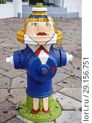 Купить «Florida, Lake Worth, Lake Avenue, fire hydrant painted humor humour humorous,», фото № 29156751, снято 13 февраля 2018 г. (c) age Fotostock / Фотобанк Лори