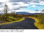 Купить «Nature of Þingvellir National Park, Southwest Iceland.», фото № 29170227, снято 21 сентября 2018 г. (c) age Fotostock / Фотобанк Лори