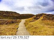Купить «Haukadalur Valley, Southwest Iceland.», фото № 29170327, снято 21 сентября 2018 г. (c) age Fotostock / Фотобанк Лори