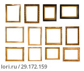 Купить «beautiful rectangular frame for a mirror on isolated background», фото № 29172159, снято 17 ноября 2018 г. (c) Татьяна Яцевич / Фотобанк Лори