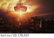 Купить «nuclear explosion», фото № 29178591, снято 29 октября 2019 г. (c) Виктор Застольский / Фотобанк Лори