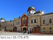 Купить «New Athos, Abkhazia - June 3. 2018. courtyard in Novy Afonsky for men Monastery», фото № 29179475, снято 3 июня 2018 г. (c) Володина Ольга / Фотобанк Лори