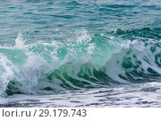Купить «Raging Black Sea. Big wave with sea foam», фото № 29179743, снято 19 ноября 2017 г. (c) Алексей Дмецов / Фотобанк Лори