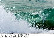 Купить «Raging Black Sea. Big wave with sea foam», фото № 29179747, снято 19 ноября 2017 г. (c) Алексей Дмецов / Фотобанк Лори