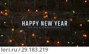 Купить «Flickering fairy lights on New Year Eve 4k», видеоролик № 29183219, снято 17 февраля 2020 г. (c) Wavebreak Media / Фотобанк Лори