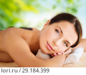 Купить «beautiful woman having hot stone therapy at spa», фото № 29184399, снято 25 июля 2013 г. (c) Syda Productions / Фотобанк Лори