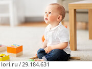 Купить «little baby boy at home», фото № 29184631, снято 12 мая 2018 г. (c) Syda Productions / Фотобанк Лори