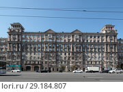 Дом 26 на Кутузовском проспекте Москва (2018 год). Редакционное фото, фотограф Дмитрий Неумоин / Фотобанк Лори