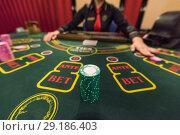 Casino, gambling and entertainment concept. Стоковое фото, фотограф Jan Jack Russo Media / Фотобанк Лори