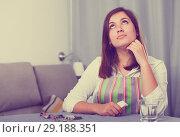 Купить «Woman feeling sad», фото № 29188351, снято 22 марта 2017 г. (c) Яков Филимонов / Фотобанк Лори