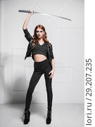 Купить «Perfect young woman», фото № 29207235, снято 3 ноября 2015 г. (c) Сергей Сухоруков / Фотобанк Лори