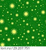 Christmas vector pattern. Стоковая иллюстрация, иллюстратор Helga Preiman / Фотобанк Лори